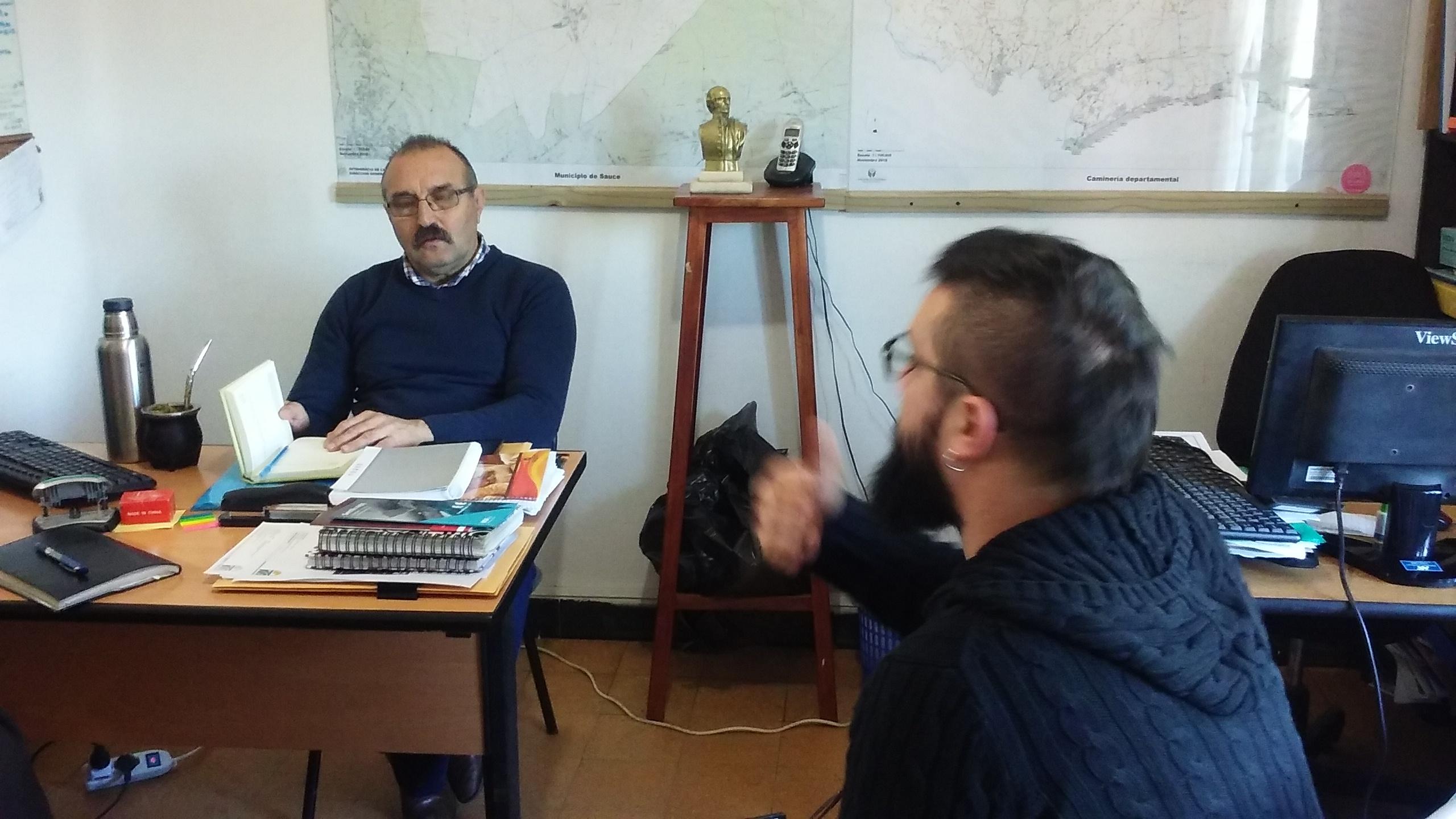 Alcalde Albderto Giannastasio, Director de Cultura Manuel Melendez